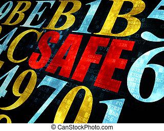 veiligheid, brandkast, concept:, achtergrond, digitale