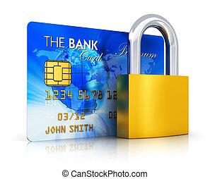 veiligheid, concept, bankwezen