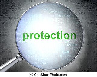 veiligheid, concept:, bescherming, met, optisch, glas