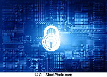 veiligheid, concept, cyber, achtergrond
