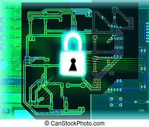 veiligheid, concept, databank