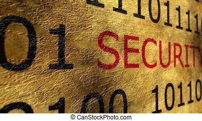 veiligheid, concept, grunge, online