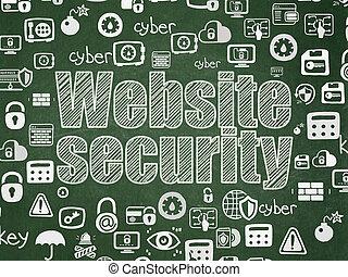 veiligheid, concept:, website, veiligheid, op, school, plank, achtergrond