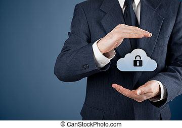 veiligheid, data, wolk, gegevensverwerking