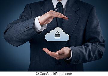 veiligheid, data, wolk