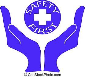 veiligheid, gezondheid, eerst, of, logo, milieu, symbool
