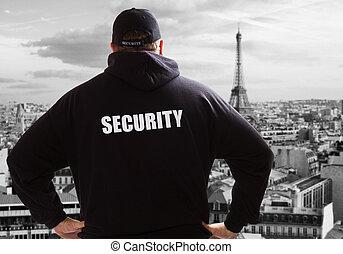 veiligheid, in, parijs