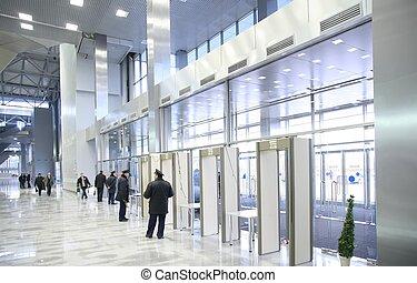 veiligheid, ingang, kantoorbediendeen
