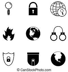 veiligheid, pictogram, set