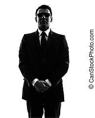 veiligheid, silhouette, geheim, man, lijfwacht, agent, ...