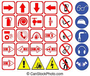 veiligheid, tekens & borden
