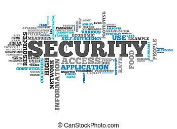 veiligheid, woord, wolk