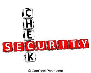 veiligheidscontrole, kruiswoordraadsel