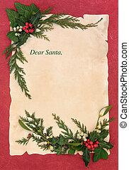 veille noël, lettre, santa