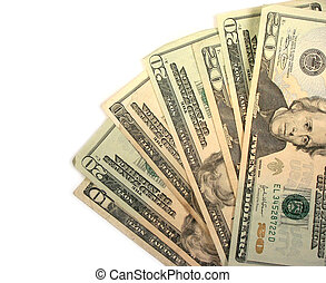 veinte, cuentas, dólar