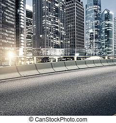 vej, og, byen