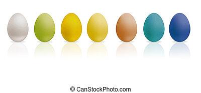 vejce, barevný, ilustrace