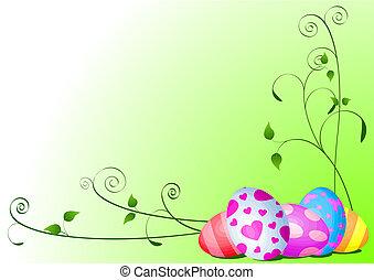 vejce, velikonoční, grafické pozadí