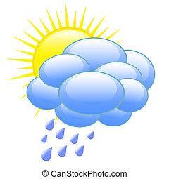 vejr forecast, ikon