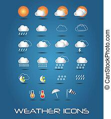 vejr, samling, iconerne