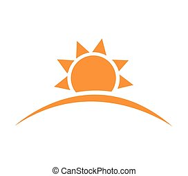 vektor, ábra, közül, napkelte, nap