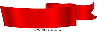 vektor, ábra, közül, piros szalag