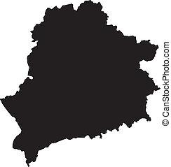 vektor, ábra, közül, térkép, közül, fehéroroszország