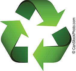 vektor, återvinn symbol