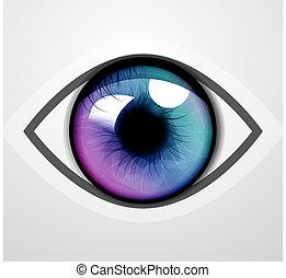 vektor, ögon