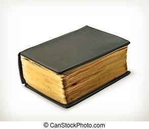 vektor, öreg, könyv