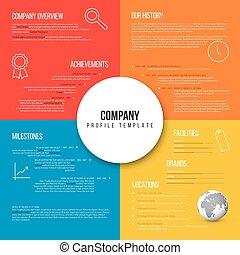 vektor, översikt, företag, infographic, design, mall