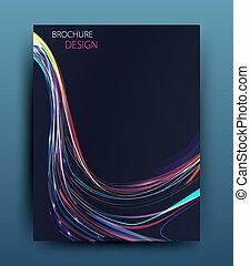 vektor, ügy, egyesített, repülő, tervezés, sablon, brosúra, ...