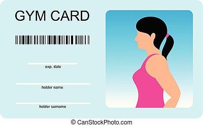 vektor, šablona, jako, karta, o, gym., identita,...