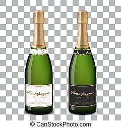 vektor, šampaňské sklenice