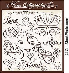 vektor, 00, kalligrafi