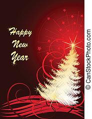 vektor, abbildung, für, neujahrs