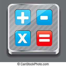 vektor, abbildung, von, apps, ikone, satz