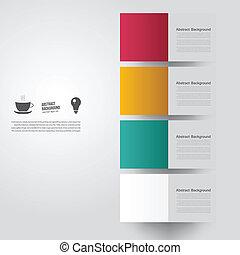 vektor, abstrakt, bakgrund., fyrkante färga