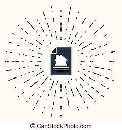 vektor, abstrakt, dannelse, baggrund., gråne, cirkel, ansøgning, dots., tilfældig, oprettelse, form, beige, tjeneste, dokument, isoleret, composition., ikon hus, kontrakt
