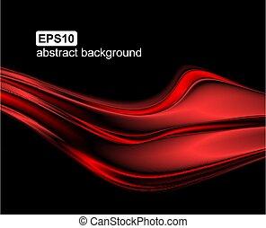 vektor, abstrakt, hintergrund, rotes , welle