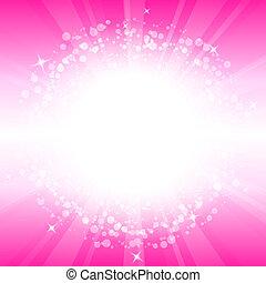 vektor, abstrakt, lyserød baggrund