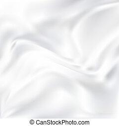 vektor, abstrakt, seide, weißes, beschaffenheit