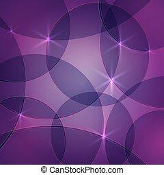 vektor, abstrakt, skum rosa, bakgrund, med, cirklarna, och, gnistar