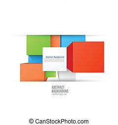 vektor, abstraktní, grafické pozadí., čtverhran barva, a