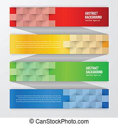 vektor, abstraktní, grafické pozadí., charakterizovat, barva