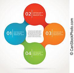vektor, abstraktní, infographics, grafické pozadí, design, ...