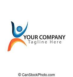 vektor, aktive, hintergrund, design, logo, leben, weißes, abbildung