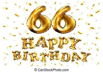 Jahre Geburstag 66 Karte Glücklich Card Geburstag Jahre