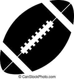vektor, amerikanische , fußball