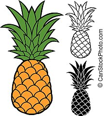 vektor, ananas